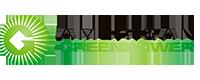 American GreenPpwer Logo White Transparent